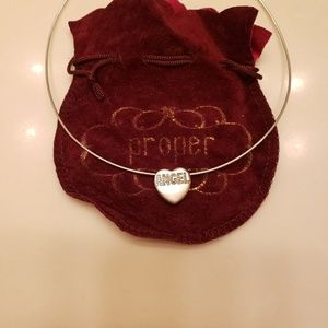 Jewelry - Angel heart sterling silver charm necklace